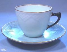 Copenhagen Vintage Porcelain Espresso Coffee Cup and Saucer