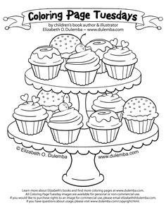 Free Coloring Page Cupcakes Pages 125 Delicious On A Pretty