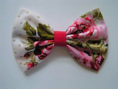 Pink Floral Hair Bow, Fabric Hair Bows, Hair Bow for Girls,Hairbow, Hair Bow, Red Bow on Etsy, $3.79