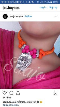 Thread Jewellery, Handmade Jewellery, Handmade Necklaces, Handcrafted Jewelry, Statement Jewelry, Pearl Jewelry, Beaded Jewelry, Beaded Necklace, Fabric Necklace