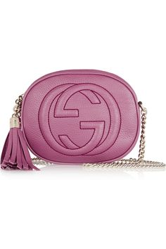 Gucci | Soho mini textured-leather shoulder bag | NET-A-PORTER.COM