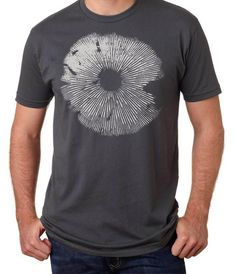 Men's Magic Mushroom Spore Print Tee by ClosetOfMysteries on Etsy