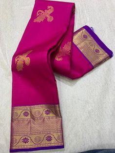 Silk Saree Kanchipuram, Silk Sarees, Saree Collection, Saree Wedding, Flower Designs, Floral Tie, Pure Products, Blouse, Fabric