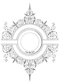 Free Vector Download – Fancy Antique Frame  I want to use this for a wedding gift when I have more experience with topography.
