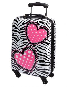 Zebra Print Hard Shell Suitcase | Girls Travel Luggage Accessories ...