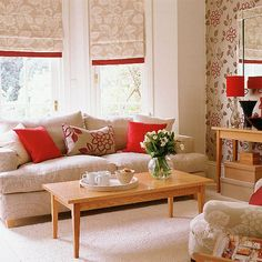 New Home Interior Design: Collection of Country Living Room Styles, nice style Roman shade