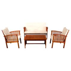 Found it at Joss & Main - 4-Piece Bonnie Acacia Seating Group