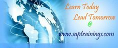 SAPtrainings.com is one of the leading SAP training provider with Certified real time SAP Consultants having hands on experience working on various implementation, support and rollout projects around the world.