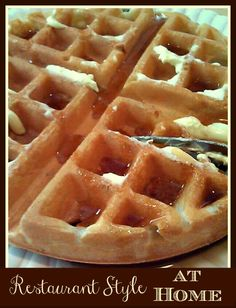 How To Make Restaurant Style Homemade Belgian Waffles Recipe on Yummly. @yummly #recipe