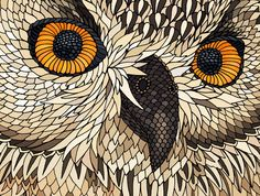European Eagle Owl by Claire Scully | Pick Me Up London