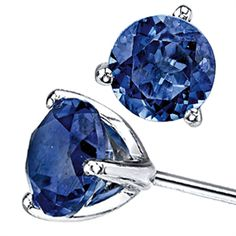 The deep blue in these #sapphire earrings is stunning!