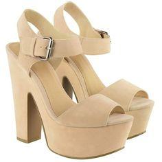 Fashion Union Platform Sandal featuring polyvore, fashion, shoes, sandals, heels, lipsy, platform sandals and platform shoes