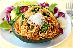 Hungry Girl's Quinoa 'n Veggie Stuffed Acorn Squash