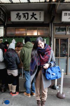 grey Isabel Marant x H&M #coat x @ARITZIA blanket #scarf x blue Proenza Schouler #bag :: Blue Pop Rocks