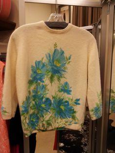 Vintage 1950's sweater. $95.00, via Etsy.