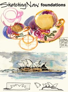 Sketching Now - Foundations -  online class by Liz Steel on Urban sketching