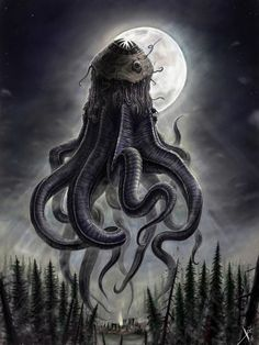 Oldone 3 by HrvojeSilic on DeviantArt Dark Fantasy Art, Fantasy Kunst, Dark Art, Arte Horror, Horror Art, Dark Creatures, Fantasy Creatures, Mythical Creatures, Lovecraftian Horror