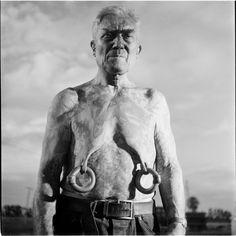 Elderly Circus Nipple-Rings Man - photograph by Stanley Kubrick.