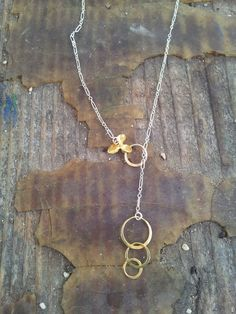 flower orchid infinity necklace rings birthday gift by allcre8ive, $48.00