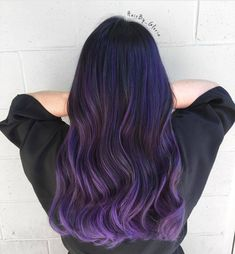 33 trendy ombre hair color ideas of 2019 - Hairstyles Trends Violet Hair Colors, Hair Color Purple, Hair Dye Colors, Hair Color For Black Hair, Cool Hair Color, Purple Lilac, Black To Purple Ombre, Deep Purple, Black Hair Purple Highlights