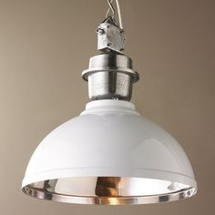 Check out Industrial Enameled Shade Warehouse Pendant - Large from Shades of Light