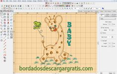 Hermoso Bordado de Jirafa Bebe, Descargar Gratis ~ Bordados Descargar Gratis, 200,000 mil Diseños Bordados Descargar Gratis