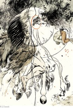 Jillian Tamaki's illustrations for Irish Myths and Legends by Lady Augusta Gregory.