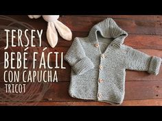 Tutorial Easy Baby Knitting Hoodie Cardigan - Video Tutorial NOTES: Work the garter stitch in all the pattern (all stitches work the knit Months - Baby Knitting Free, Knitting Patterns Boys, Baby Cardigan Knitting Pattern, Knitted Baby Cardigan, Baby Pullover, Hoodie Pattern, Crochet Jacket, Knitting For Kids, Baby Patterns