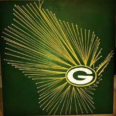 Green Bay Packers String Art 24x24 or 16x16 by Trash2Treasure83, $30.00