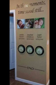 In These Moments Time Stood Still.... Oh my word I LOVE LOVE LOVE this idea #HomeDecor #WantThis #Clocks