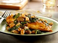 Balsamic Chicken with White Beans and Spinach Recipe | Food Network