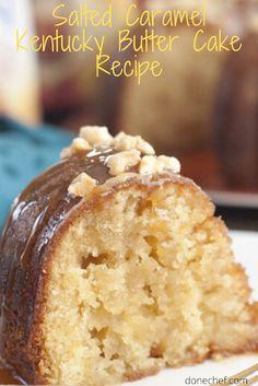 Fall Cake Recipes, Desert Recipes, Salted Caramel Cake, Caramel Cakes, Kentucky Butter Cake, Baking Recipes, Crab Recipes, Beef Recipes, Soup Recipes