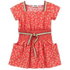 Rykiel Enfant Tangerine butterfly dress