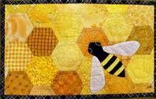 Honey bee mug rug