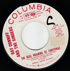 """45vinylrecord The Real Meaning Of Christmas/Go Tell It On The Mountain (7"""" DJ/45 rpm) COLUMBIA http://www.amazon.com/dp/B017O7T0VG/ref=cm_sw_r_pi_dp_eMlqwb1DJH2GT"""