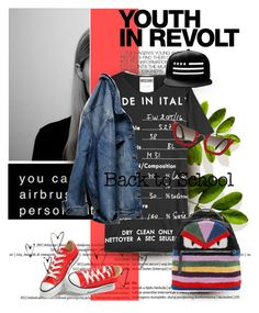 """""""Youth in revolt....."""" by pam0713 ❤ liked on Polyvore featuring Hedi Slimane, Moschino, H&M, Fendi, Converse, Miu Miu and BackToSchool"""