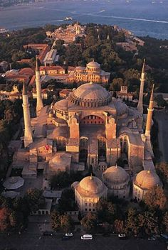 """Hagia Sophia, Istanbul, Turkey....Hagia Sophia is a title for Jesus which means """"Holy Wisdom""""...was once the central church building of the Eastern Orthodox Church and is now a museum..."""