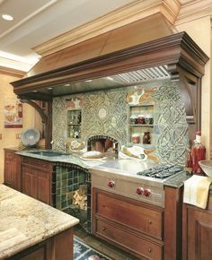 Erin Go Bragh - Sub-Zero and Wolf Kitchen Photo Gallery hood Wolf Kitchen, Kitchen Oven, Country Kitchen, New Kitchen, Kitchen Decor, Kitchen Ideas, Indoor Pizza Oven, Home Pizza Oven, Wood Burning Oven
