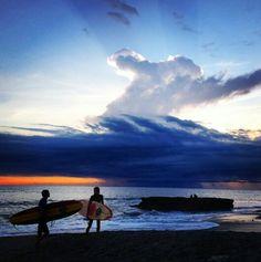 Surfing at Pantai Batu Bolong