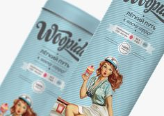 Inspired by vintage pin-up girl art, Woopidoo combines both a modern and vintage feel to their baked goods packaging.