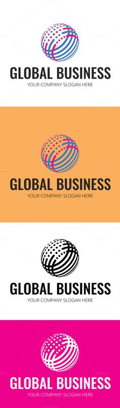 Creative Global Business Logo by DesignMarket on Creative Market