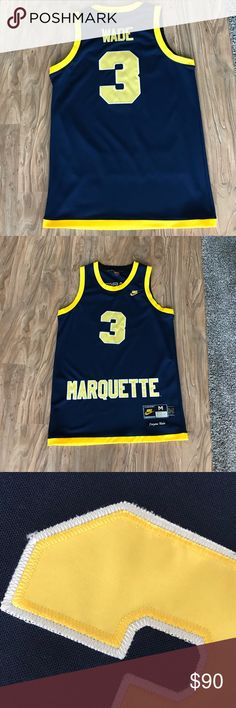 84c4e332e83 Dwyane Wade Marquette Jersey Medium Men s Nike Marquette Dwyane Wade  Jersey. Nike Shirts Tank Tops