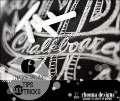 Rhonna designs shows you how to do 'tricks' with chalkboard paint and chalk...cool stuff...
