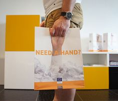 Need a hand? Shopping Bag Design, Shopping Bags, Paper Bag Design, Paper Bags, Advertising, Concept, Tote Bag, Learning, Creative