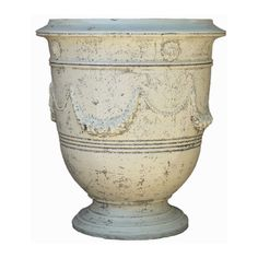 Roy Soleil Vase Planter with Ivory Glaze