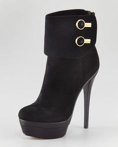 Dora Cuff Button Bootie by @RachelZoe at Neiman Marcus. Is it Fall yet? Love, love, love these!