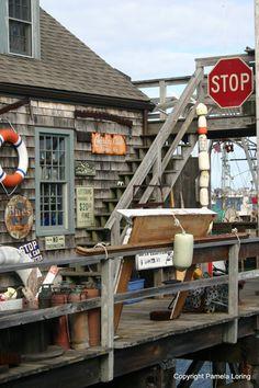 The Quarterdeck Scituate Harbor Massachusetts 5x7 by GreatSacks, $18.00