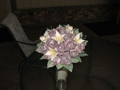 DIY paper flower BM bouquets (not finished) | Weddingbee Photo Gallery