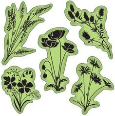 Meadow Flowers - Stamping Gear - Cling Rubber Stamp