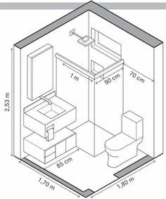Agencement Cuisine : Tiny homes have to make efficient use of space and that includes the bathrooms. A tiny house bathroom has to accommodate a toilet a bath and/or shower and a sink in a very small amount of space. Bathroom Layout Plans, Small Bathroom Layout, Bathroom Ideas, Bathroom Organization, Bathroom Storage, Bathroom Cleaning, Budget Bathroom, Very Small Bathroom, Shower Ideas
